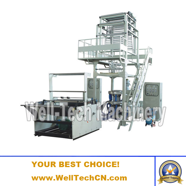 WT-2L Series Double-layer Co-extrusion Rotary Die Film Blowing Machine