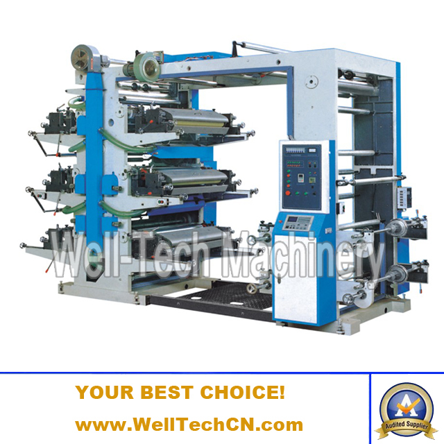 WT-A6600, 6800, 61000, 61200 Six-Color Flexographic Printing Machine