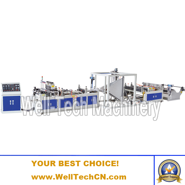 WTNB-C1200, 1400, 1600 Non-woven Fabric Plat Open Bag Making Machine
