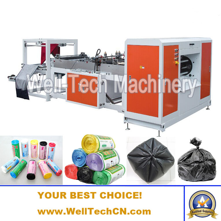 WTRB-B Series Plastic Roll Garbage Bag Making Machine (Double Rolls Unwinding Type)